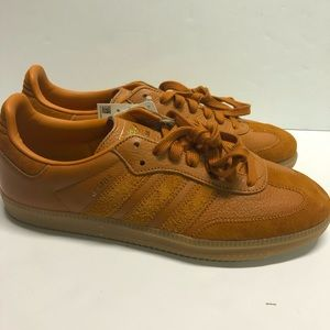Adidas Samba OG FT Shoes Ochre-Craft Ochre-Gold9.5